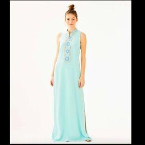 Lilly Pulitzer Jane Maxi Dress Whisper Blue NWT